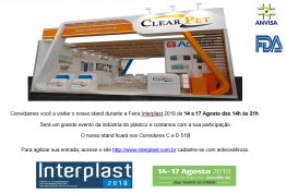 Convite interplast 2018 14 a 17 de agosto 2018